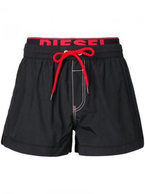 Плавательные шорты с логотипом Diesel. Цвет: чёрный