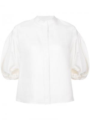 Balloon sleeves blouse Dice Kayek. Цвет: белый