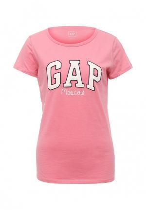 Футболка Gap. Цвет: розовый