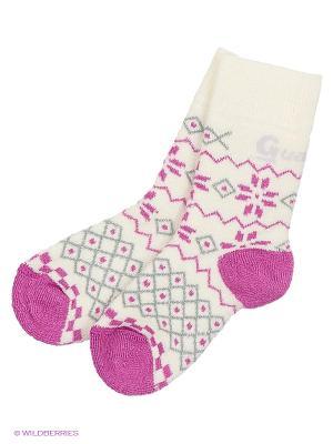 Носки Guahoo. Цвет: розовый, кремовый