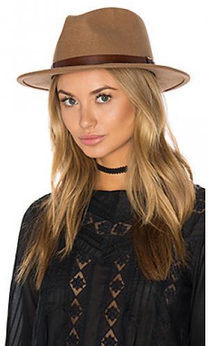 Шляпа федора messer Brixton. Цвет: цвет загара
