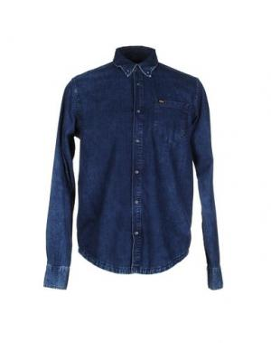 Джинсовая рубашка TIGER OF SWEDEN. Цвет: синий