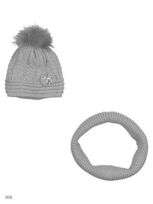 Комплект: шапка, шарф RACCOON YELLOW. Цвет: сиреневый