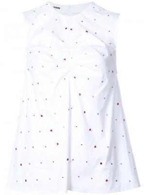 Crystal embellished blouse Jourden. Цвет: белый