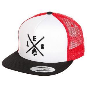 Бейсболка с сеткой  Trucker Black/White/Red Les. Цвет: черный,белый,красный