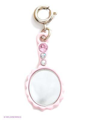 Подвеска на браслет зеркалo CHARM IT. Цвет: розовый