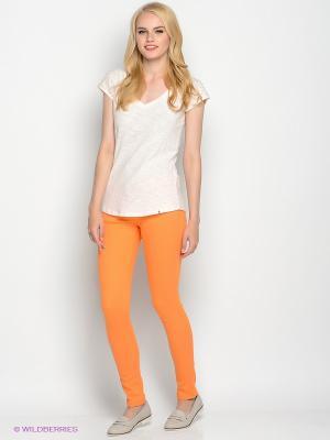 Брюки F5. Цвет: светло-оранжевый