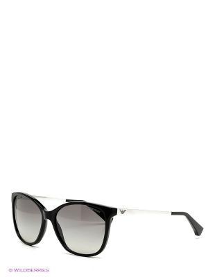 Очки солнцезащитные Emporio Armani. Цвет: черный, серебристый