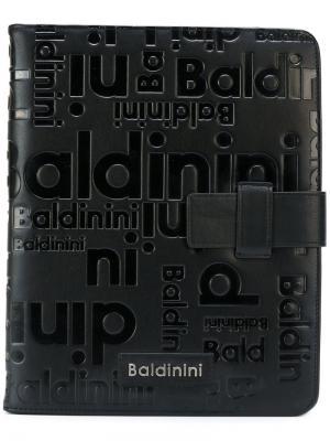 Чехол для iPad с тиснеными логотипами Baldinini. Цвет: чёрный