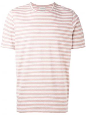 Футболка Conduit Stripe Oliver Spencer. Цвет: розовый и фиолетовый