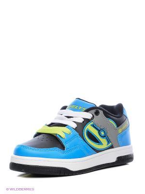 Роликовые кроссовки Heelys. Цвет: голубой, черный, серый, салатовый