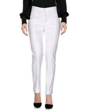Повседневные брюки G.T.A. MANIFATTURA PANTALONI. Цвет: белый