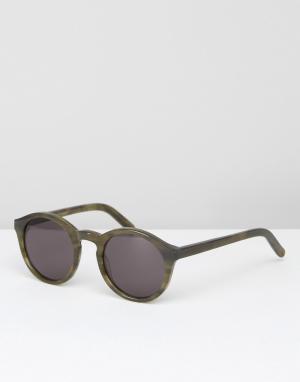 Monokel Eyewear Солнцезащитные очки в зеленой оправе. Цвет: зеленый