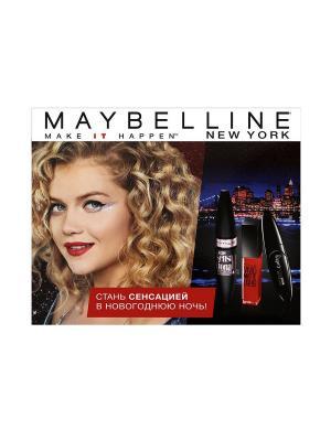 Лимитированный Подарочный Набор Maybelline NY от Маши Иваковой New York. Цвет: черный, красный