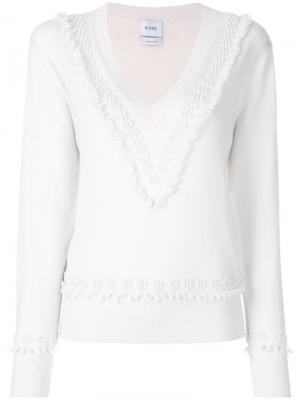 Textured detail V-neck jumper Barrie. Цвет: телесный