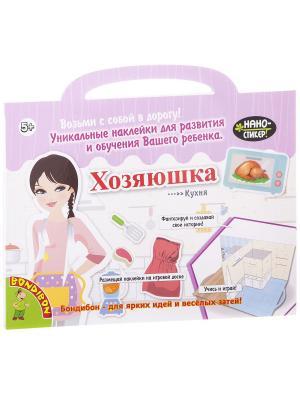 Набор наклеек Нано-стикер Хозяюшка, Bondibon, 23,5х27 см., арт. IPG2 BONDIBON. Цвет: розовый