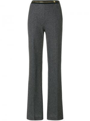 Расклешенные брюки Cavalli Class. Цвет: серый