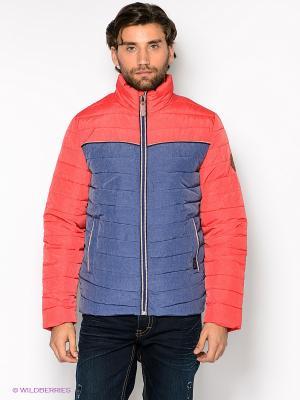 Куртка Timezone. Цвет: коралловый, синий