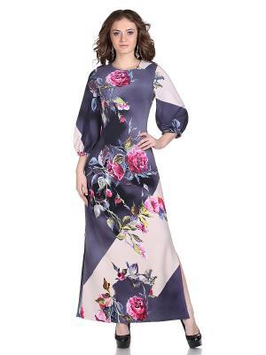 Платье OLIVEGREY. Цвет: темно-серый, розовый