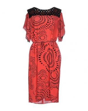 Платье до колена CHIARA D'ESTE. Цвет: фуксия