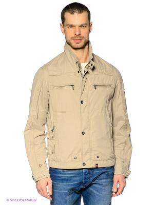 Куртка Gate One. Цвет: бежевый