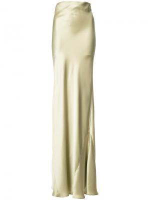 Длинная юбка Galvan. Цвет: телесный