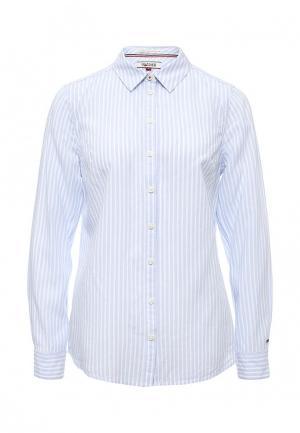 Рубашка Tommy Hilfiger Denim. Цвет: голубой