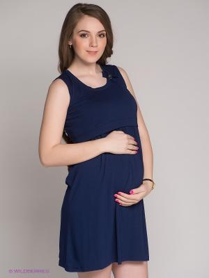 Платье Gemko. Цвет: синий