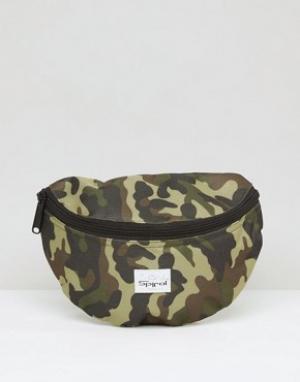 Spiral Камуфляжная сумка-кошелек на пояс. Цвет: зеленый