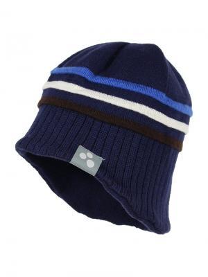 Вязаная детская шапка JOOSEP HUPPA. Цвет: темно-синий