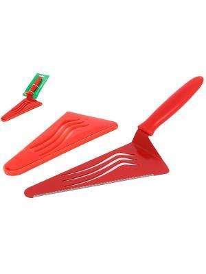 Лопатка-нож для торта Elan Gallery. Цвет: красный