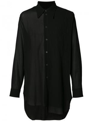 Асимметричная рубашка Ann Demeulemeester Grise. Цвет: чёрный