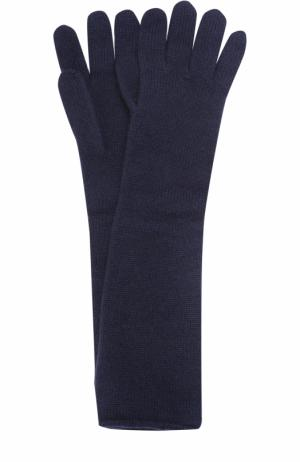 Удлиненные перчатки из кашемира Johnstons Of Elgin. Цвет: темно-синий