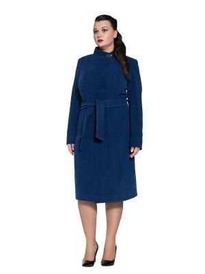 Пальто Alisa Line. Цвет: синий