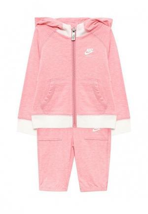 Костюм спортивный Nike. Цвет: розовый