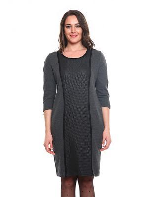 Платье FRENCH HINT. Цвет: темно-серый