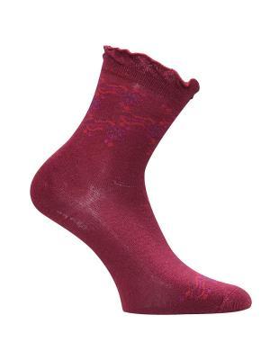 Носки Master Socks. Цвет: темно-красный, молочный, фиолетовый