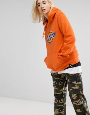 Dickies Oversize-худи с логотипом. Цвет: оранжевый