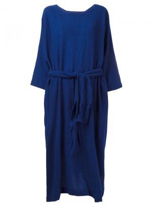 Платье с поясом Daniela Gregis. Цвет: синий