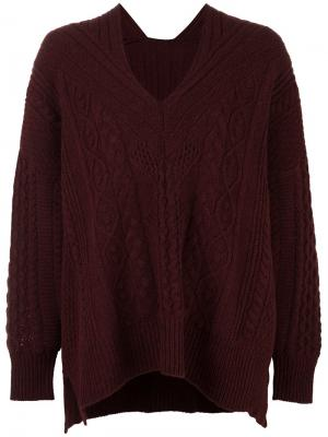 Cable knit jumper Mame. Цвет: розовый и фиолетовый