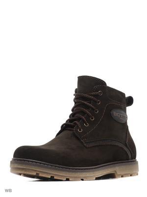 Ботинки зимние мужские. натуральнвя кожа ZET. Цвет: коричневый