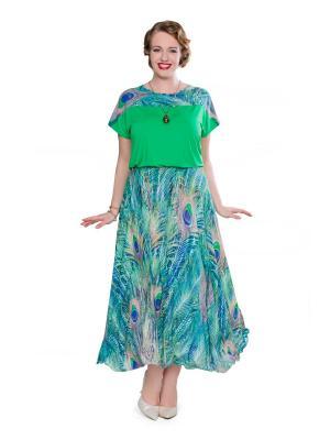 Блузка Eva Graffova. Цвет: светло-зеленый
