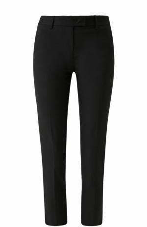 Укороченные хлопковые брюки со стрелками DKNY. Цвет: черный