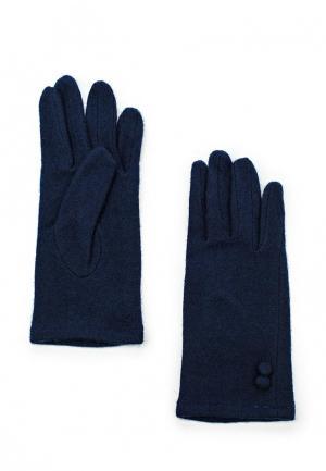 Перчатки oodji. Цвет: синий