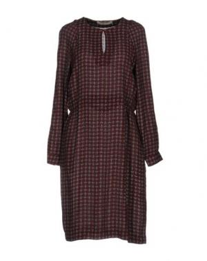 Платье до колена NICE THINGS by PALOMA S.. Цвет: красно-коричневый