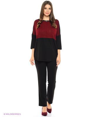 Блузка SVESTA. Цвет: черный, бордовый