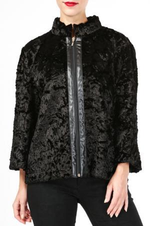 Куртка DONNA ENRICA. Цвет: черный