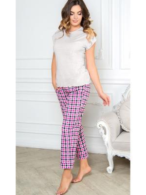 Пижама Daina. Цвет: розовый, черный, серый