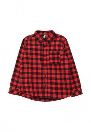 Рубашка United Colors of Benetton. Цвет: красный