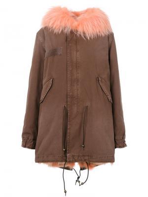 Куртка с капюшоном и карманами клапанами Mr & Mrs Italy. Цвет: телесный